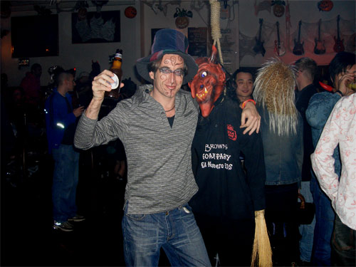 IMG: Modok makes a new friend at the Brown's Pub Halloween Party